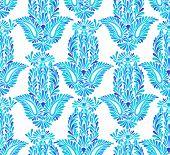 image of hamsa  - seamless pattern with traditional hamsa element - JPG