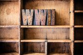 pic of hitler  - The word WWII written in vintage wooden letterpress type in a wooden type drawer - JPG