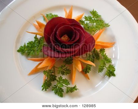Picture or Photo of Food decoration beet rose