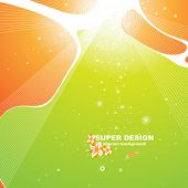 Abstract spring background for design.