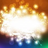 picture of new years celebration  - New Years card with back light and place for your text - JPG