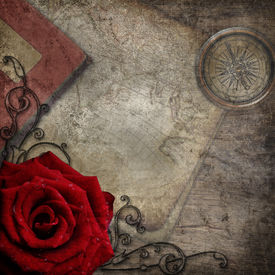 pic of treasure map  - Old Compass - JPG