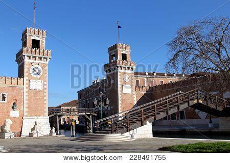 Venice Italy Venetian Arsenal Old