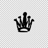 Crowns Drawn By Hand. Set Texture Strokes Thick Paint In The Form Of A Crown Isolated On White Backg poster