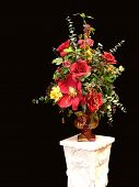 stock photo of flower-arrangement  - Colorful silk - JPG
