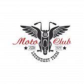 Moto Club Logo, Legendary Team, Estd 1979, Design Element For Motor Or Biker Club, Motorcycle Repair poster