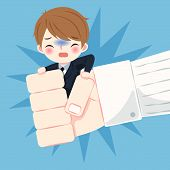 Blusiness Man With Bullying Concept On The Blue Background poster
