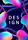 Creative Design With 3d Plastic Shapes. Modern Style Abstraction Background. Abstract Background Of  poster
