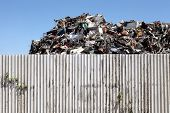 foto of scrap-iron  - Pile of scrap metal for recycling - JPG