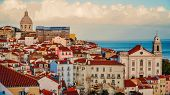 Lisbon Panorama. Aerial View. Lisbon Is The Capital And The Largest City Of Portugal. Lisbon Is Cont poster
