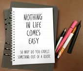 Quotes on nothing comes easy poster
