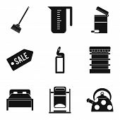Domestic Personnel Icons Set. Simple Set Of 9 Domestic Personnel Vector Icons For Web Isolated On Wh poster