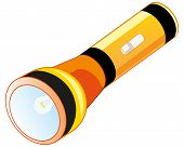 Small Pocket Flash-light On Battery.vector Illustration Of The Flash-light poster