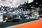Abstract Blurred Image Of Reception Area From Event Hall At Shopping Mall Or Public Event Exhibition poster