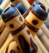 image of didgeridoo  - A display of didgeridoos the world - JPG