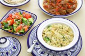 image of tagine  - A table set for a Moroccan meal - JPG