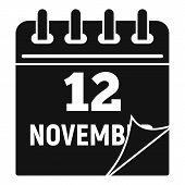 12 November Calendar Icon. Simple Illustration Of 12 November Calendar Vector Icon For Web Design Is poster