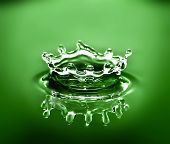 picture of crown green bowls  - water crown caused by a water droplet falling into a bowl of water - JPG