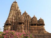 The Western Group Of Khajuraho Temples, On A Clear Day, Madhya Pradesh India Is A Unesco World Herit poster