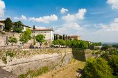 View at Lower Town - Citta Bassa - of Bergamo, beautiful ancient town in Lombardy, Italy poster