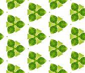 Green Spring Geometry Seamless Pattern. Hand Drawn Watercolor Ornament. Pleasant Repeating Tile. Cap poster