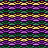 Seamless Pattern Beautiful Yellow, Green, Purple Beads On A Dark Background. Mardi Gras Party. Venet poster