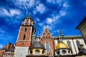 Beautiful Historical Historic Polish Royal Castle Wawel On A Warm Summer Day poster