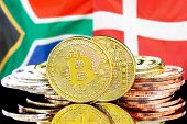 Concept For Investors In Cryptocurrency And Blockchain Technology In The South Africa And Denmark. B poster