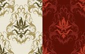 stock photo of dessin  - Seamless Classic Wallpaper Backgrounds  - JPG
