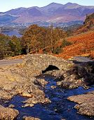 Small stone bridge, Lake District, England.