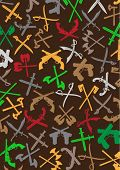 foto of crossed pistols  - Weapons Silhouettes Background - JPG
