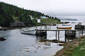 picture of dory  - Small boats tied to dock in Rantem - JPG