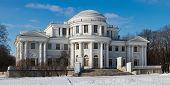 pic of sankt-peterburg  - Yelagin palace in winter day Sankt - JPG