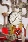 stock photo of air pressure gauge  - the image of a Close up of a pressure - JPG
