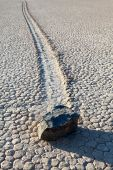 Death Valley Racetrack Playa Rock On Lakebed