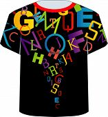 T Shirt Template- Colorful letters