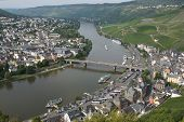 picture of moselle  - Panorama view to Bernkastel - JPG