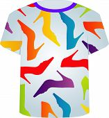 T Shirt Template- colorful shoes