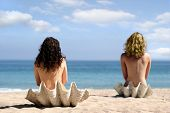 Two Girls In Sea Shells