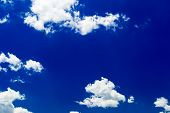 image of stratus  - Blue sky with stratus clouds in spring day - JPG