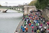 Marathon Runners In Paris