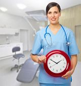 Doctor with clock