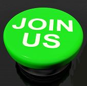 picture of joining  - Join Us Button Showing Joining Membership Register - JPG