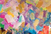 bright multicolored oil brush strokes as background