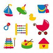 stock photo of bassinet  - baby toys  - JPG