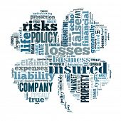 insurance word cloud conceptual image