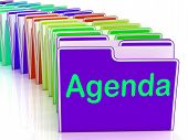 Agenda Folders Show Schedule Lineup Or Timetable