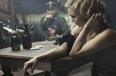 picture of gunshot  - Sexy woman seduce a soldier - JPG