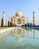 Taj Mahal In Sunrise Light,