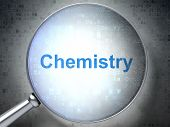 Education concept: Chemistry with optical glass